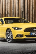 2015 Ford Mustang GT EU-spec yellow car