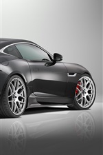2015 Jaguar F-Type R Coupe, black supercar rear view