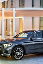 Preview iPhone wallpaper 2015 Mercedes-Benz GLC 350 car side view