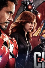 Preview iPhone wallpaper 2016 movie, Captain America: Civil War HD