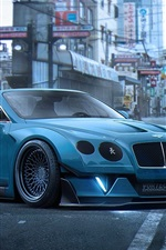 Preview iPhone wallpaper Bentley Continental GT blue supercar
