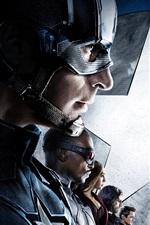 iPhone обои Капитан Америка: Гражданская война 2016