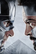 Preview iPhone wallpaper Captain America: Civil War, face to face