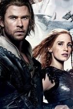 Preview iPhone wallpaper Chris Hemsworth, Jessica Chastain, The Huntsman: Winter's War