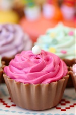 Preview iPhone wallpaper Colorful cream cakes, pastries, sweet food