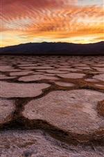 Death Valley, USA, Kalifornien, Wüste, Sonnenuntergang, roten Himmel