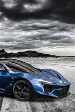 Preview iPhone wallpaper Fenyr SuperSport blue supercar