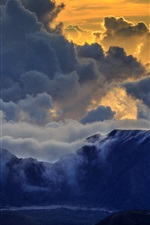 Preview iPhone wallpaper Haleakala, Maui, mountains, clouds, sunset
