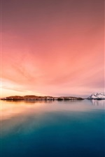 Preview iPhone wallpaper Iceland, islands, sea, dusk