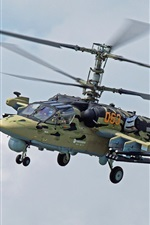 미리보기 iPhone 배경 화면 KA-52 헬기, 러시아어