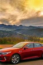 Kia Optima turbo red car