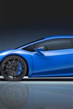 iPhone fondos de pantalla Lamborghini Huracán superdeportivo azul vista lateral