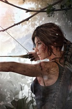 Preview iPhone wallpaper Lara Croft, Rise of the Tomb Raider, use bow
