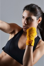 Preview iPhone wallpaper Martial arts, pose, girl, sports