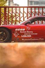 미리보기 iPhone 배경 화면 마즈다 RX 7 빨간색 초차 측면보기