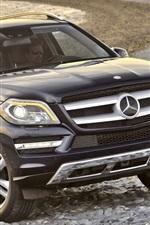 Preview iPhone wallpaper Mercedes-Benz black SUV car