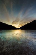 Preview iPhone wallpaper Rose Valley Reservoir, West Kelowna, British Columbia, Canada, lake, sunset