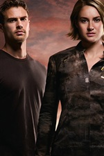 Preview iPhone wallpaper Shailene Woodley, Theo James, The Divergent Series: Allegiant