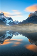 Preview iPhone wallpaper South America, Chile, Patagonia, Andes mountains, lake, water reflection