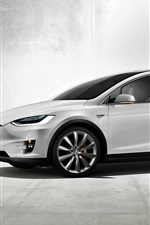 Preview iPhone wallpaper Tesla Model X concept electric car