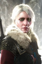 Preview iPhone wallpaper The Witcher 3: Wild Hunt, white hair girl