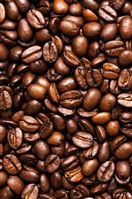 Toasted coffee beans, seeds