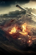 Preview iPhone wallpaper World of Tanks, destroy