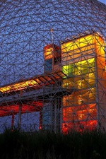 Preview iPhone wallpaper Biosphere Museum, night, lighting, North America