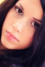 Preview iPhone wallpaper Black hair girl, face, portrait