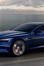 Preview iPhone wallpaper Buick Avista concept blue car speed
