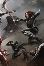 Preview iPhone wallpaper Captain America: Civil War, 2016 HD