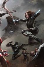 Vorschau des iPhone Hintergrundbilder Captain America: Bürgerkrieg , 2016 HD