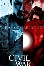 iPhone обои Капитан Америка: Война HD гражданской