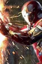 iPhone обои Капитан Америка: Гражданская война, жестокая дуэль
