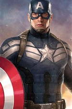 Preview iPhone wallpaper Chris Evans, Captain America: Civil War