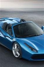 Preview iPhone wallpaper Ferrari 488 Spider blue supercar