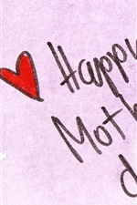 Preview iPhone wallpaper Happy Mother's Day, pen, love hearts