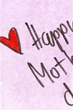 Aperçu iPhone fond d'écranJour, stylo, coeurs d'amour de mère heureux