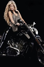 Preview iPhone wallpaper Harley-Davidson motorcycle and girl
