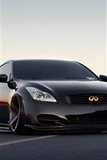iPhone fondos de pantalla coches tuning negro Infiniti