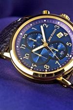Vorschau des iPhone Hintergrundbilder Jack Pierre Uhr, gold, blau