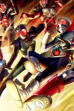 Preview iPhone wallpaper Kamen Rider, Japanese game