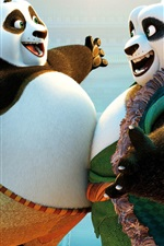 Preview iPhone wallpaper Kung Fu Panda 3, Po and his father