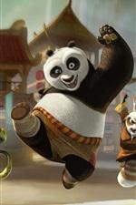 iPhone fondos de pantalla Kung Fu Panda 3, salida feliz