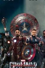 iPhone обои Marvel фильм 2016, Капитан Америка: Гражданская война