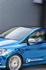 Preview iPhone wallpaper Mercedes-Benz B-class Electric Drive blue car speed