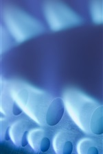 Preview iPhone wallpaper Natural gas, heating, fire flame close-up