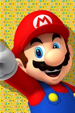 Preview iPhone wallpaper Nintendo games, Super Mario