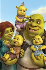 Preview iPhone wallpaper Shrek 4, cartoon movie