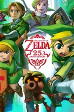 Preview iPhone wallpaper The Legend of Zelda, 25th Anniversary, RPG game